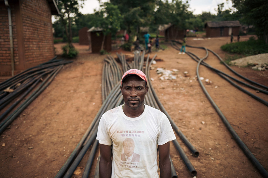 Mlembe started to work for the Oxfam Pipeline in June 2018. He is very proud that he and his teams were able to lay the pipeline across the mountains, especially given the difficult circumstances in which they had to work. Credit: Alexis Huguet/Oxfam