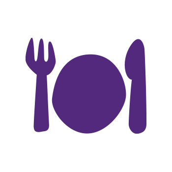 Icon: plate and cutlery