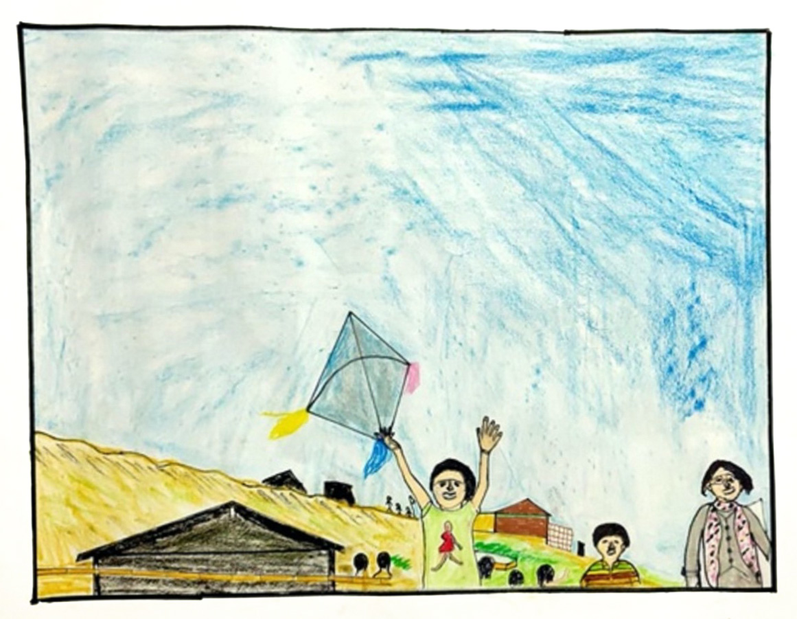 Flying Our Voice to the People of the World, illustration by Mohammed Ershad