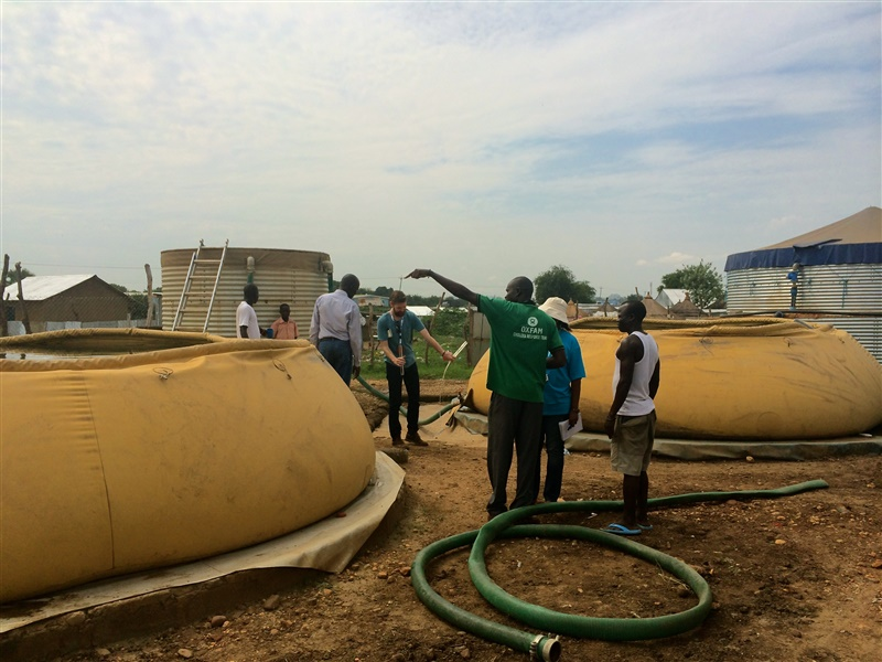 Oxfam constructed water point in Gumbo, Juba, South Sudan. Credit: Katrice King/Oxfam.
