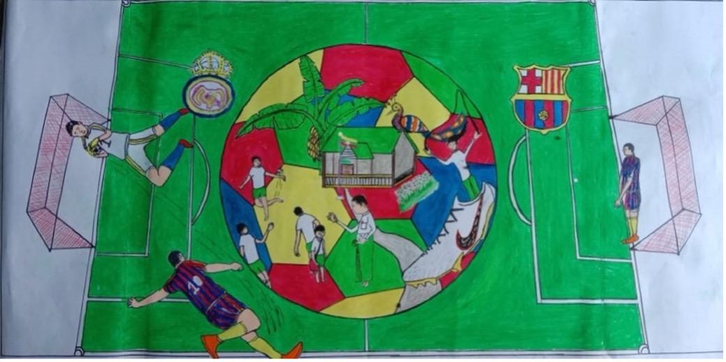 Rohingya people love football
