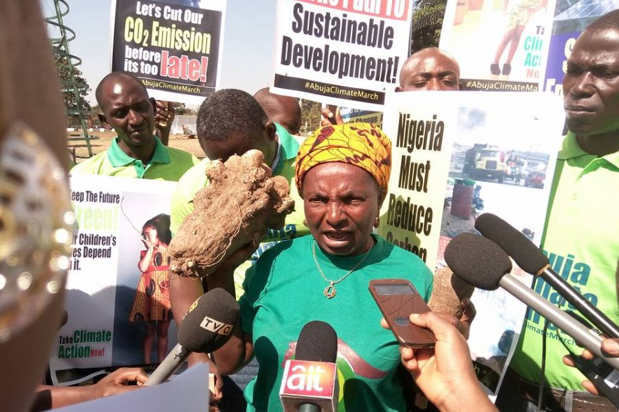 "In November 2015 Monica was part of the ""Abuja Climate march"" which aim was to press for stringent measures by world leaders on climate change as they were meeting in Paris."
