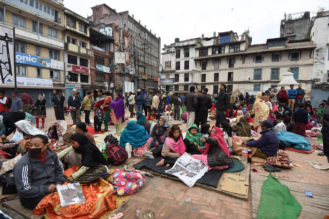Displaced people in Nepal, after the earthquake. Photo: Shristi Rajbhandari