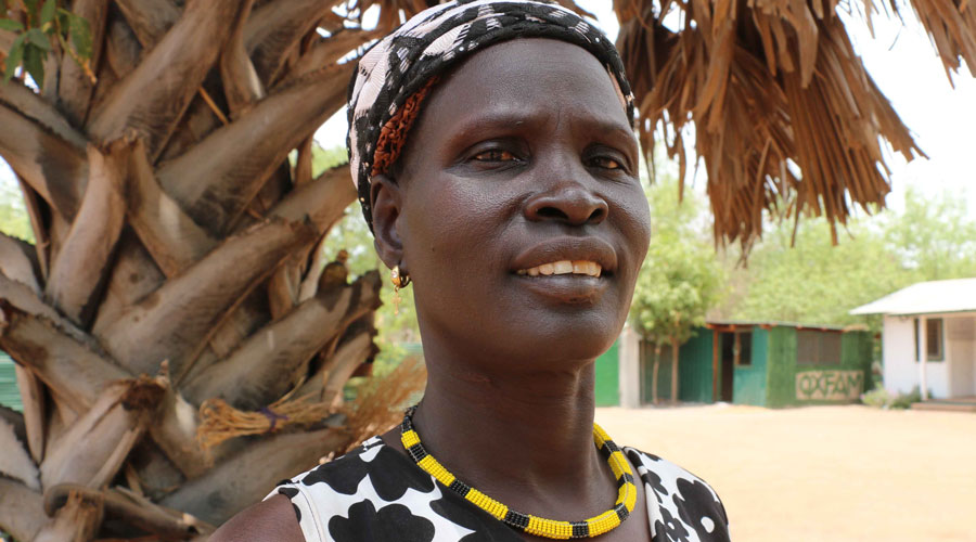 Rebecca Adut, a member of the peace committee in Rumbek, South Sudan, from the Amayom clan. Photo: Stella Madete/Oxfam