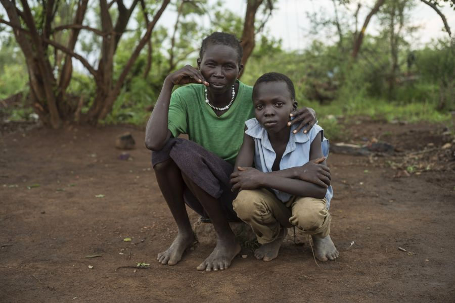 South Sudanese refugee Amina and her eldest son Charlie who was missing for 9 months.