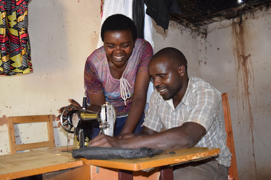 Christine taught all that she learned to her husband, Claude. Photo: Oxfam