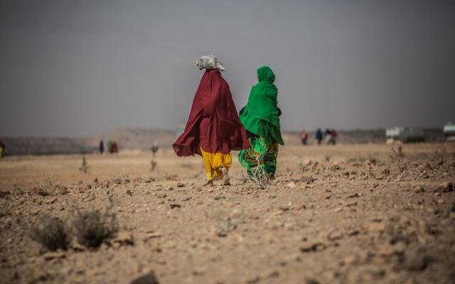 Two women in the displaced persons camp in Dar Agg, Somalia.