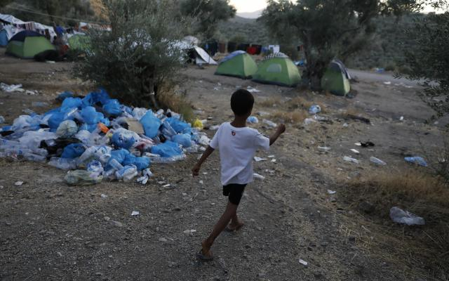 'Olive Grove' camp belongs to the EU refugees 'hotspot' of Moria in Lesvos, Greece. Photo: Giorgos Moutafis/Oxfam