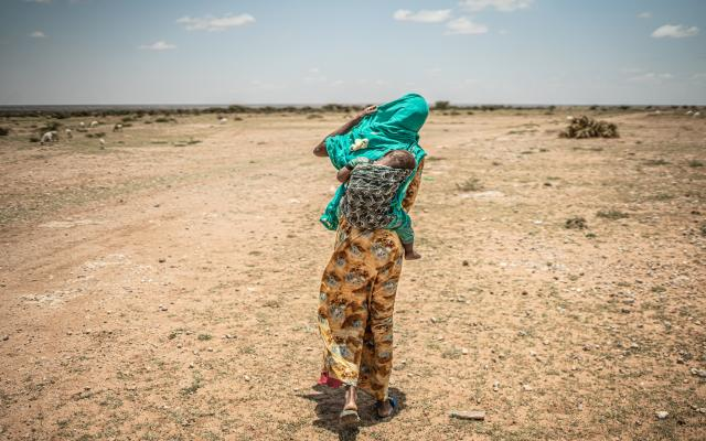 Kawsar Omer Abdi lost most of her livestock because of the drought.