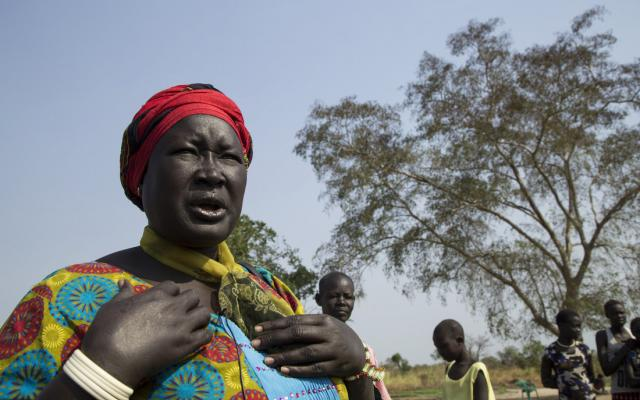 Rebecca is an entrepreneur who owns a vegetable farm in South Sudan. Photo: Bullen Chol/Oxfam.