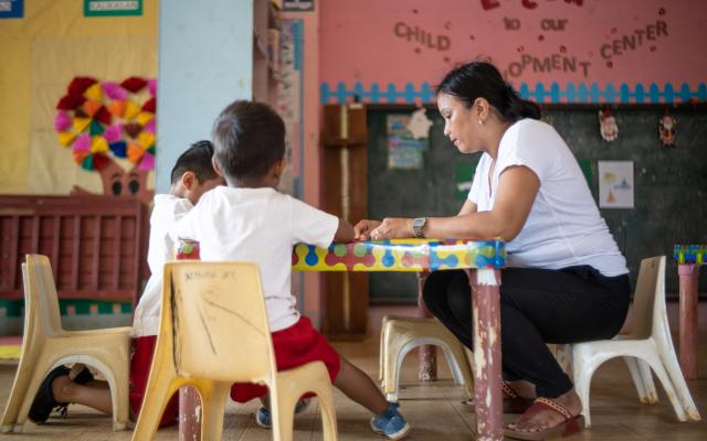 Since attending We Care seminars with her husband, Rowena, day-care worker and mother, Philippines, has more time to get involved in her community.