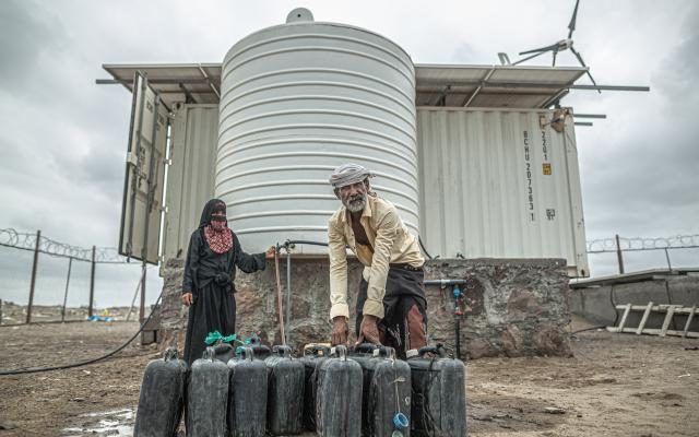 Desalination unit in Yemen
