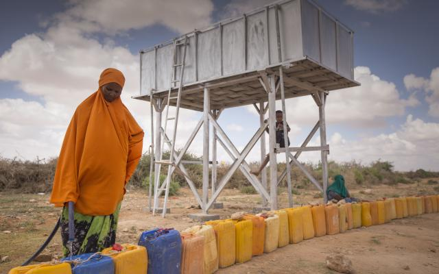 Desalination unit in Somalia