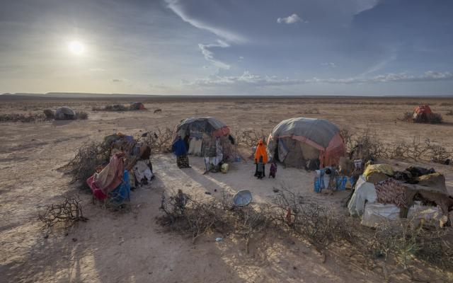 : A settlement for people internally displaced in the town of Garadag. Somaliland, Northern Somalia, March 2017. Photo by Petterik Wiggers/Oxfam