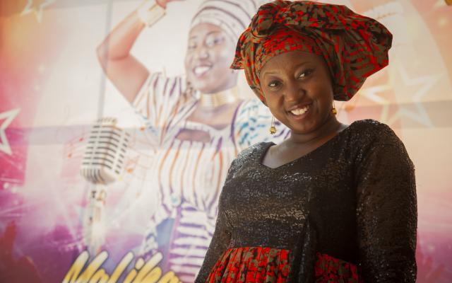 "Malika Ouattara, better known as ""Malika la Slameuse"", is a slam music artist in Burkina Faso."