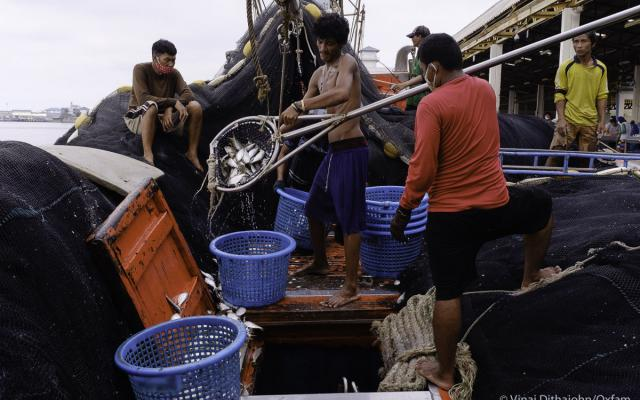 Seafood workers in Thailand