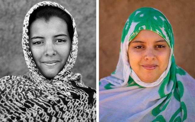 Portrait of Dalia Jatri Mohamed, 5 years apart