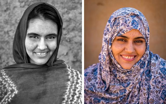 Portrait of Habba Abdallah, 5 years apart