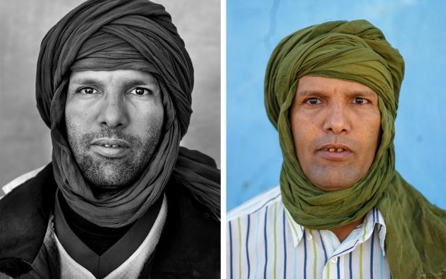 Portrait of Luali Brahim, 5 years apart