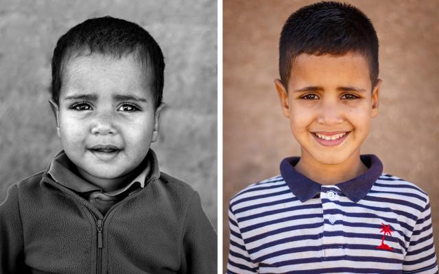 Portrait of Said Abdi Sidahmed, 5 years apart
