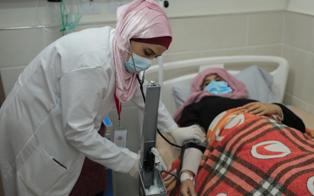 Heba Shalan, a mother of five and nurse from the Jabalia Refugee camp in northern Gaza Strip.