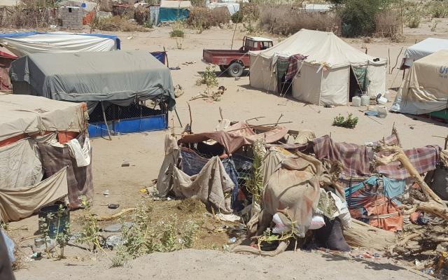 Marib displacement camp, Yemen.