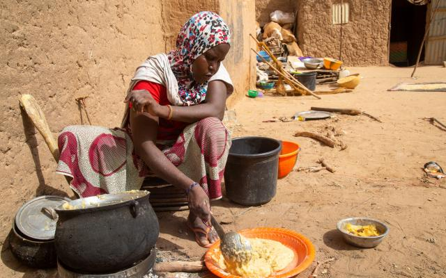 Following attacks by armed groups, Saleye and her family fled and took refuge in the village of Mangaïzé, Niger.
