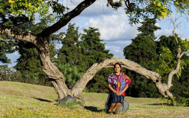 Maria Morales Jorge, 52, from Guatemala,is determined to change what's normal and encourages other indigenous women to join her.