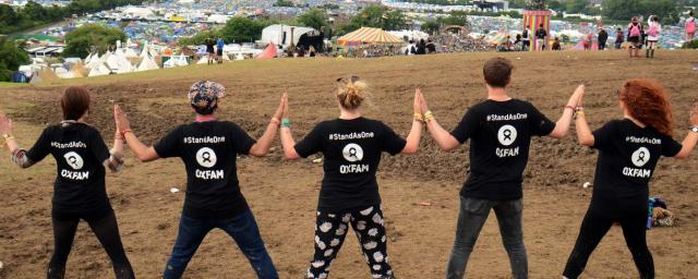 Stand as One campaigners at Glastonbury