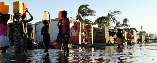 Survivors of Cyclone Idai in Beira, Mozambique