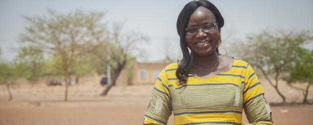 Naomie Ouedraogo Bicaba, woman peace activist in Brukina Faso