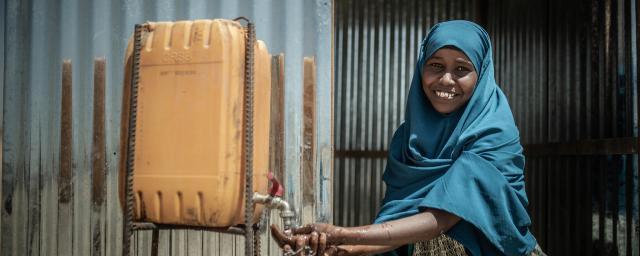 Portrait of Aisha, community health promoter in Somalia