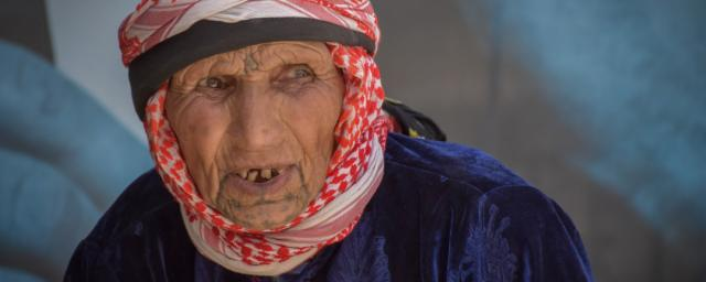 Ruqaya, 83, lives in rural Aleppo with her family.