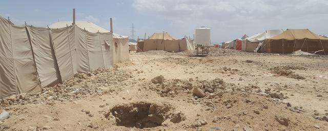 Marib displacement camp, in Yemen, is in the heart of desert.