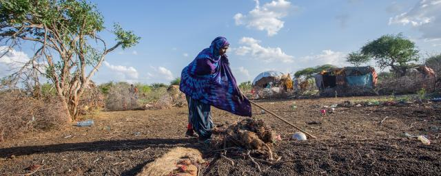 Pasoralist Fatuma pictured outside of her home in Tana River County, Madogo division, Kenya.