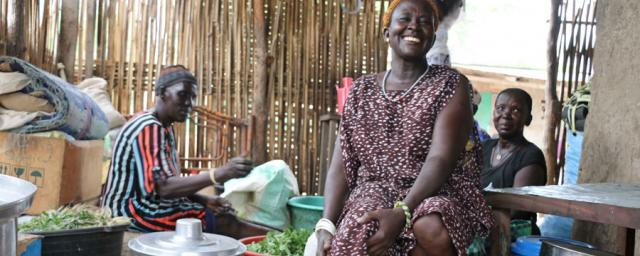 Restaurant owner working in South Sudan