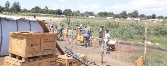 Oxfam sanitation supplies arrive in Juba, South Sudan