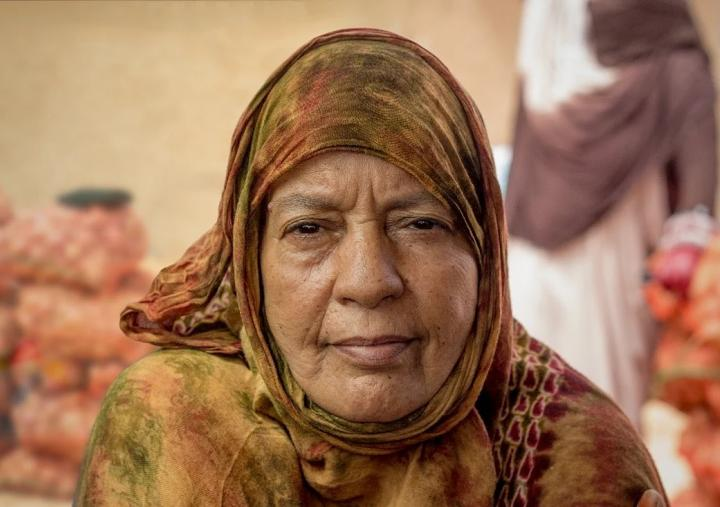 Minetu, 58, lives in the Smara refugee camp in southwestern Algeria. Photo: Addad Ammi/Oxfam