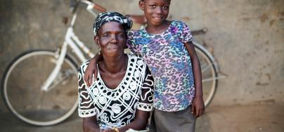 """""""When you are poor, you're worried about how to pay school fees and basic needs,"""" says Mmalebna, a proud mother and maize farmer in northern Ghana.  Oxfam is working working with farming families to revive their barren farming land. Credit: Nana Kofi Acquah/Oxfam"""