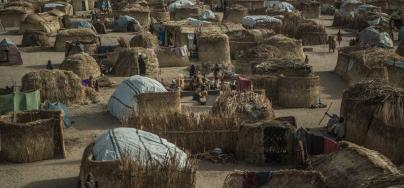 Displaced camp of Muna Garage on the outskirts of Maiduguri. Credit: Pablo Tosco/Oxfam