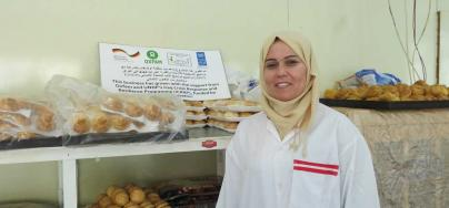 Yasmin is a Syrian refugee and she has been in Iraq for six years. She is now a baker owning her business thanks to the UNDP (United Nations Development Program) funded Iraq Crisis Response and Resilience Program (ICRRP). Credit: Noor Tahir/Oxfam