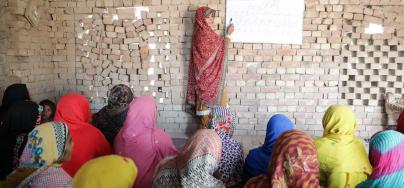 The Accelerated Learning Centres (ALC) set up by Oxfam are allowing women and girls who have never attended school to gain basic literacy and numeracy skills., Pakistan. Credit: Insiya Syed / Oxfam
