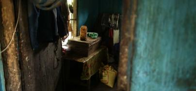 The house of an Assam tea worker. Photo: Roanna Rahman /Oxfam