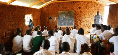 Secondary students take their lessons at a PPP school in western Uganda. Credit: Initiative for Economic and Social Rights (ISER).