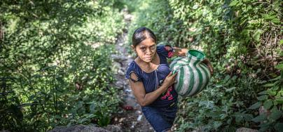 "Food insecurity caused by climate change is generating forced displacement in the ""Corredor Seco""region, Guatemala."