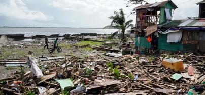 Typhoon Phanfone left a trail of destruction in Biliran after it made landfall on Christmas day. Credit: BOBBIE ALOTA/AFP via Getty Images