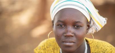 Mariam, 25 ans et mère d'un enfant, a fui son village près de Dablo, au centre-nord du Burkina Faso.
