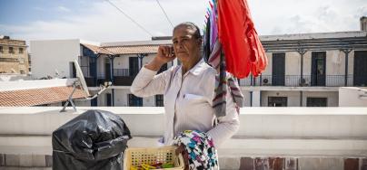 Aida Kaabi doing her laundry.