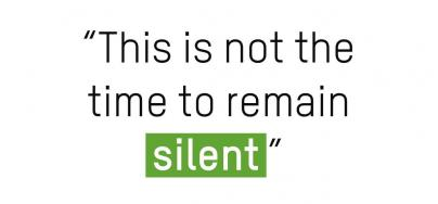 This is not the time to remain silent