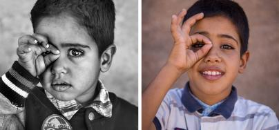 Portrait of Sidahmed Abdi Sidahmed, 5 years apart